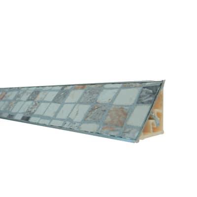Alzatina alluminio crema L 300 x H 2,7 cm