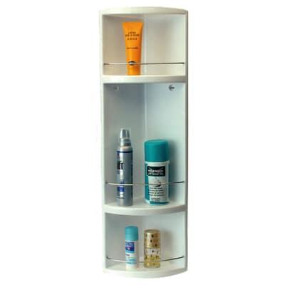 Mensola doccia angolare stilo 3 ripiani prezzi e offerte for Offerte cabine doccia leroy merlin
