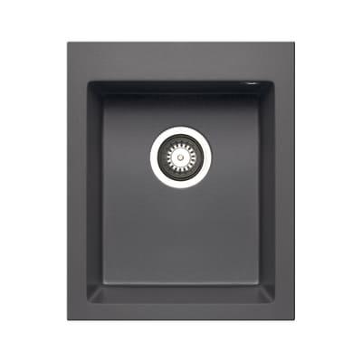 Lavello incasso Voyager grigio ferro L 41 x P  50 cm 1 vasca