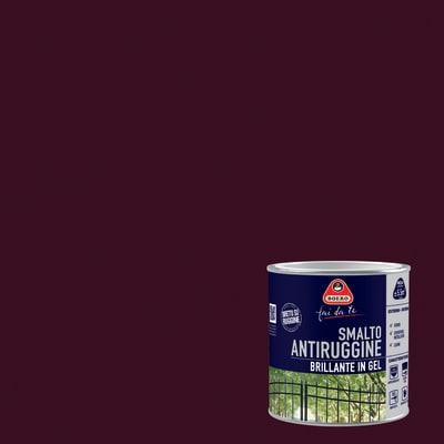Smalto per ferro antiruggine Boero testa di moro brillante 0,5 L