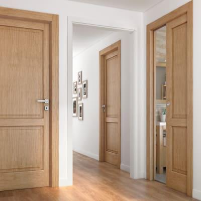 Porta da interno scorrevole Bernini rovere miele 80 x H 210 cm sx