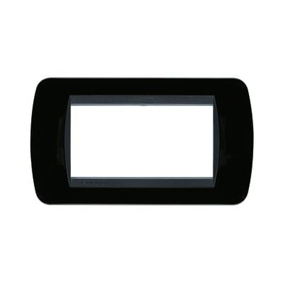 Placca 4 moduli BTicino Livinglight nero