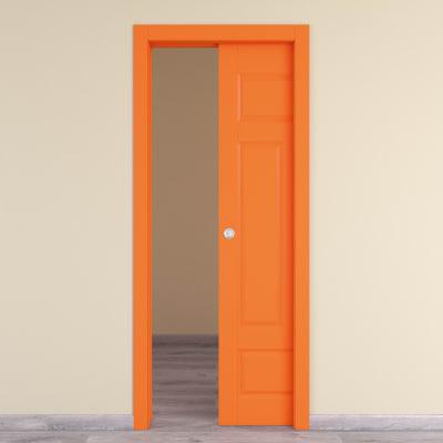 Porta da interno scorrevole Coconut Groove arancio 60 x H 210 cm reversibile