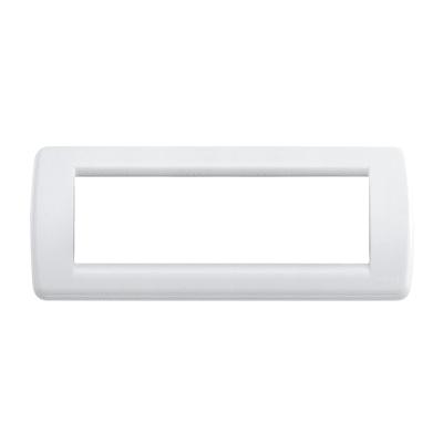 Placca 6 moduli Vimar Idea bianco brillante