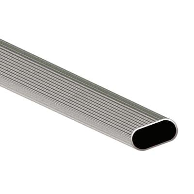 Porta abiti in alluminio grigio L 3 x P 200 x H 1,5 cm