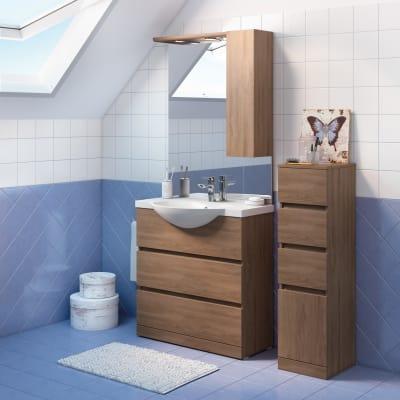 Mobile bagno elise rovere l 80 cm prezzi e offerte online leroy merlin - Offerte mobili bagno leroy merlin ...