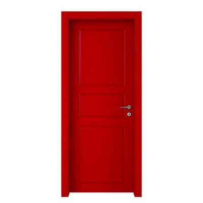 Porta da interno battente New York rosso 60 x H 210 cm sx
