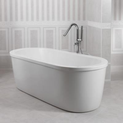 Piastrella devon 33 3 x 60 cm marrone prezzi e offerte for Parete vasca da bagno leroy merlin
