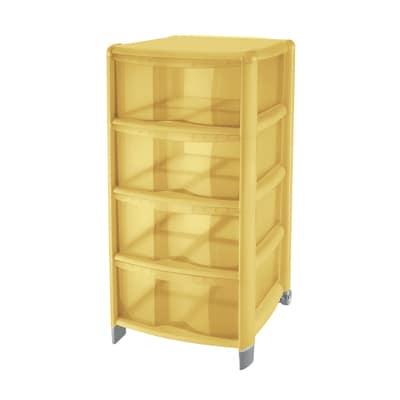 Cassettiera Bambù giallo
