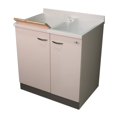 Mobile lavatoio plus bianco l 80 x p 60 x h 85 cm prezzi e for Leroy merlin lavatoio con mobile
