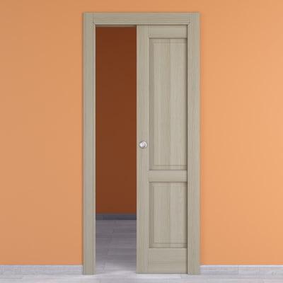Porta da interno scorrevole Vermeer rovere sbiancato 80 x H 210 cm dx