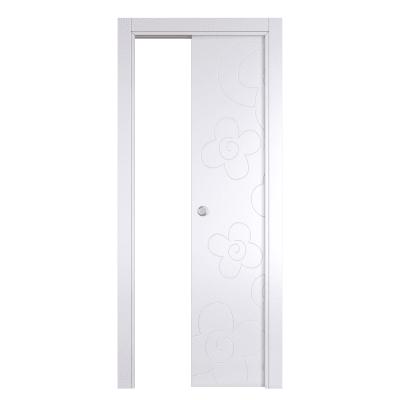 Porta da interno scorrevole Flower white bianco 70 x H 210 cm reversibile