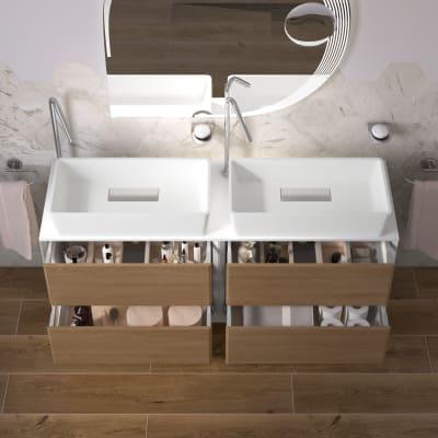Mobile bagno Devon rovere L 141 cm
