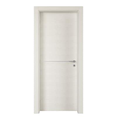 Porta da interno battente Hollow bianco matrix 80 x H 210 cm sx