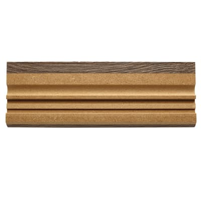 Battiscopa carta finish rivestito tabacco 15 x 70 x 2400 mm