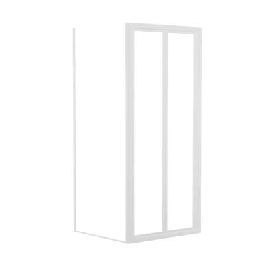Doccia con porta pieghevole e lato fisso Elba 84 - 90 x 78 - 82 cm, H 185 cm acrilico 3 mm stampato
