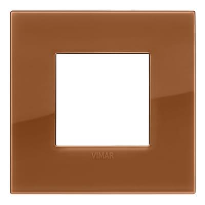 Placca 2 moduli Vimar Arké reflex caramel