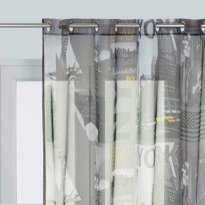 Tenda Lewis grigio 135 x 280 cm