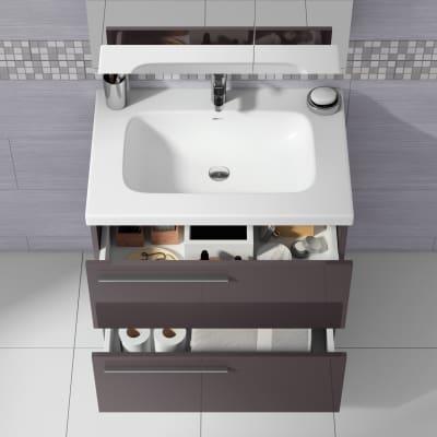 Mobile bagno Elea grigio antracite L 71,5 cm