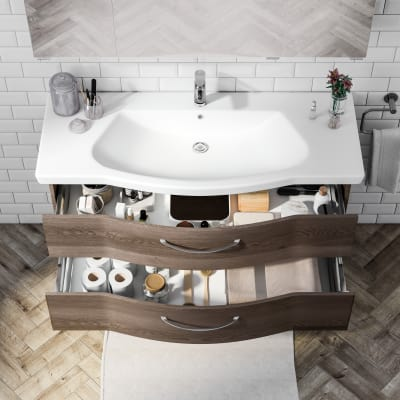 Mobile bagno Solitaire terra L 122 cm