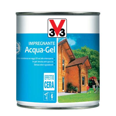 Impregnante ad acqua 6 anni V33 Acqua-Gel noce medio cerata 0,75 L