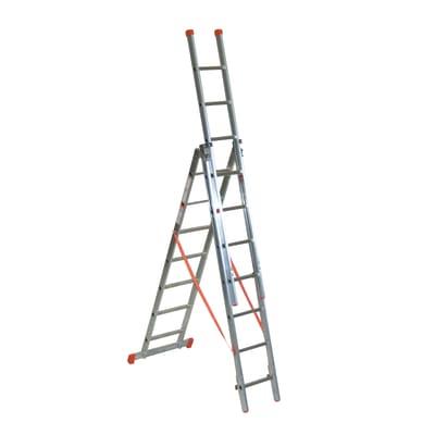 Scala sfilo alluminio Facal 3x7 gradini, per lavori fino a 4,2 m
