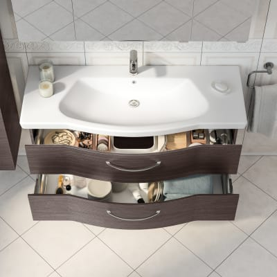 Mobile bagno Solitaire cacao L 122 cm