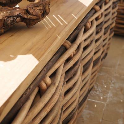Tavolino Bora Teak 120 x 82 cm