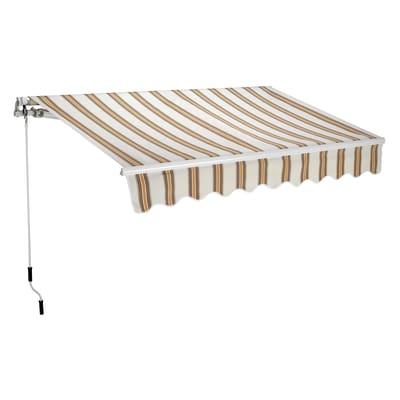 tenda da sole a bracci estensibili su barra quadra 250 x