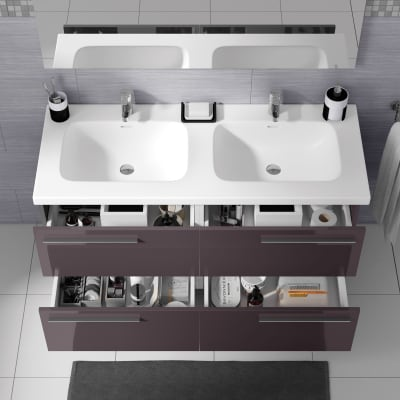 Mobile bagno Elea grigio antracite L 122 cm