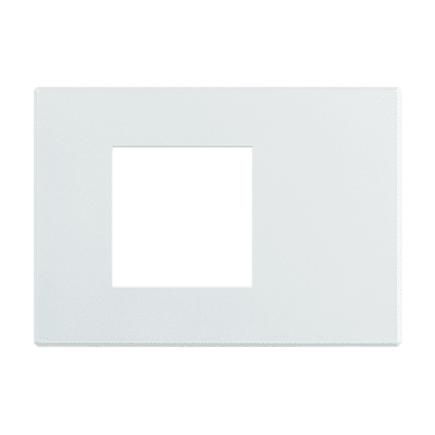 Placca 2 moduli BTicino Axolute Air bianco opaco