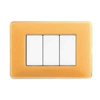 Placca 3 moduli BTicino Matix ambra