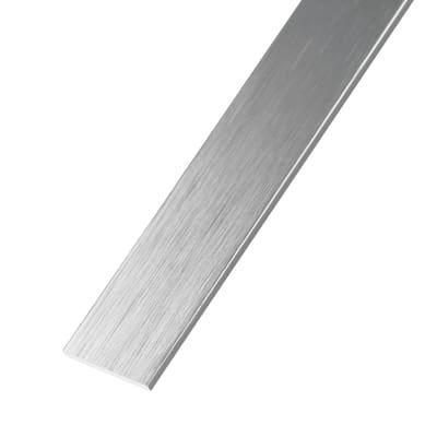Profilo piatto in alluminio rame spazzolato l 30 x s 2 mm for Profilo alluminio led leroy merlin