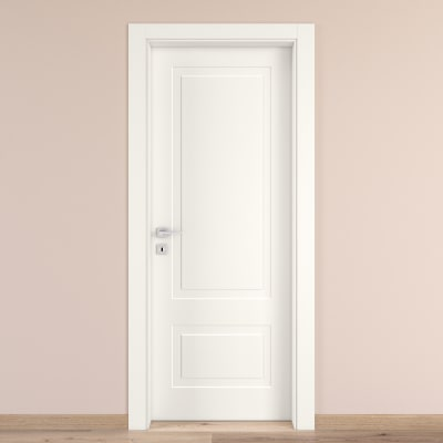 Porta da interno battente Shibuya bianco 70 x H 210 cm dx