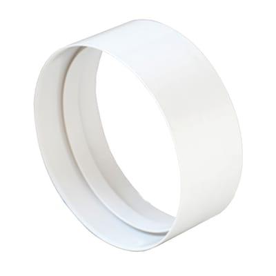 Raccordo rotondo Per tubo di aerazione diametro 100 bianco Ø 10 cm
