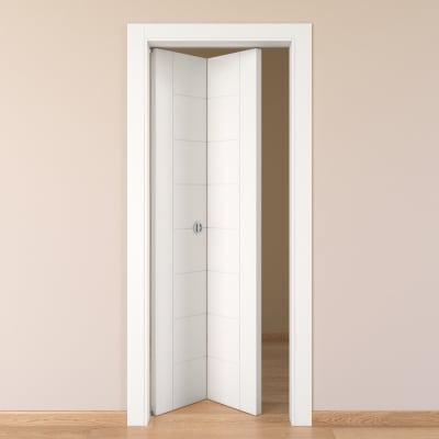 Porta da interno pieghevole Chamberì bianco 80 x H 210 cm sx