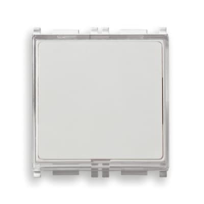 Pulsante con targhetta portanome illuminato Vimar Plana bianco