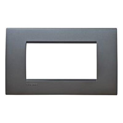 Placca 4 moduli BTicino Livinglight antracite