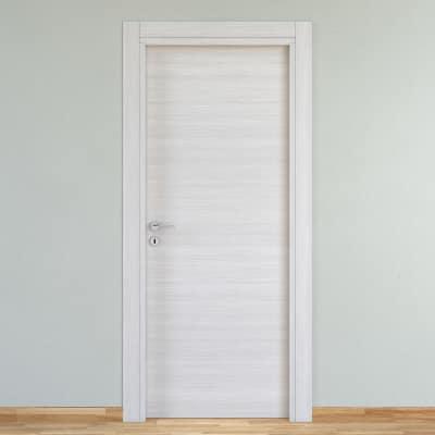 Porta da interno battente pigalle palissandro bianco 80 x for Porte da interno leroy merlin