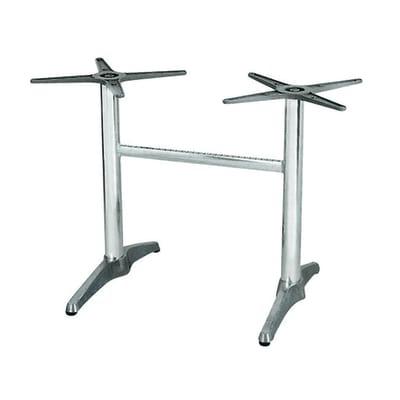 Struttura tavolo in alluminio, H 73 cm argento
