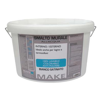 Smalto murale bianco satinato Make 4 L