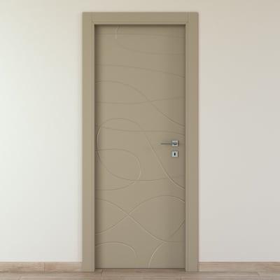 Porta da interno battente Wind taupe tortora 60 x H 210 cm sx