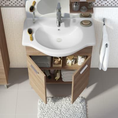 Mobile bagno Rimini rovere L 75 cm