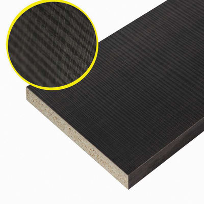 Pannello melaminico rovere scuro 18 x 300 x 1000 mm