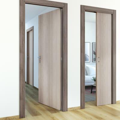 Porta da interno battente One frassino/brown 70 x H 210 cm reversibile