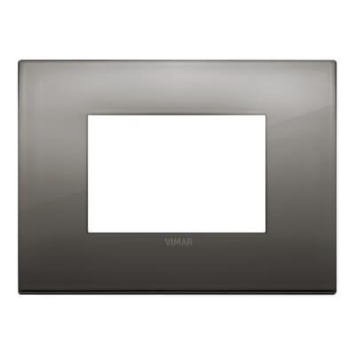 Placca 3 moduli Vimar Arké cromo nero