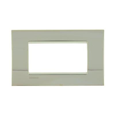 Placca 4 moduli BTicino Livinglight oro freddo