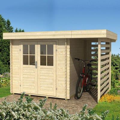 casetta in legno grezzo Stoccarda 3,92 m², spessore 18 mm