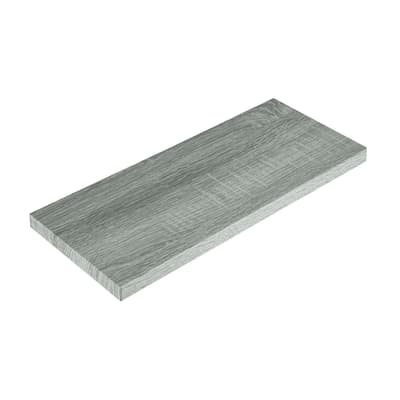 Mensola Spaceo rovere grigio L 96 x P 23,7, sp 2,2 cm