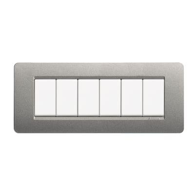 Placca 6 moduli BTicino Matix titanium